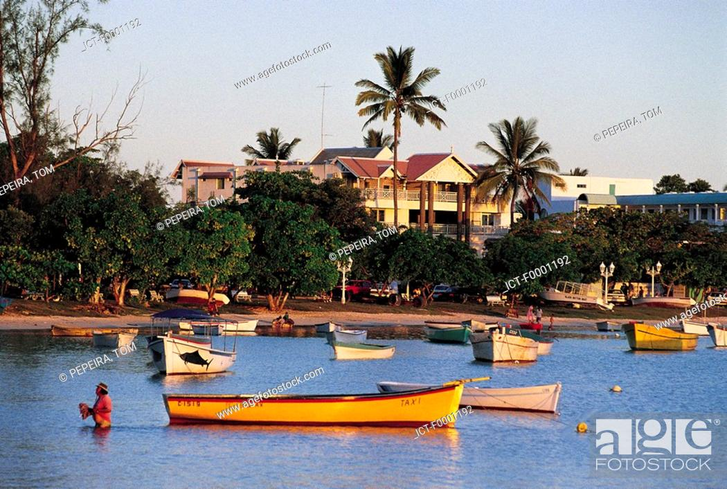 Stock Photo: Mauritius, fishing boats.