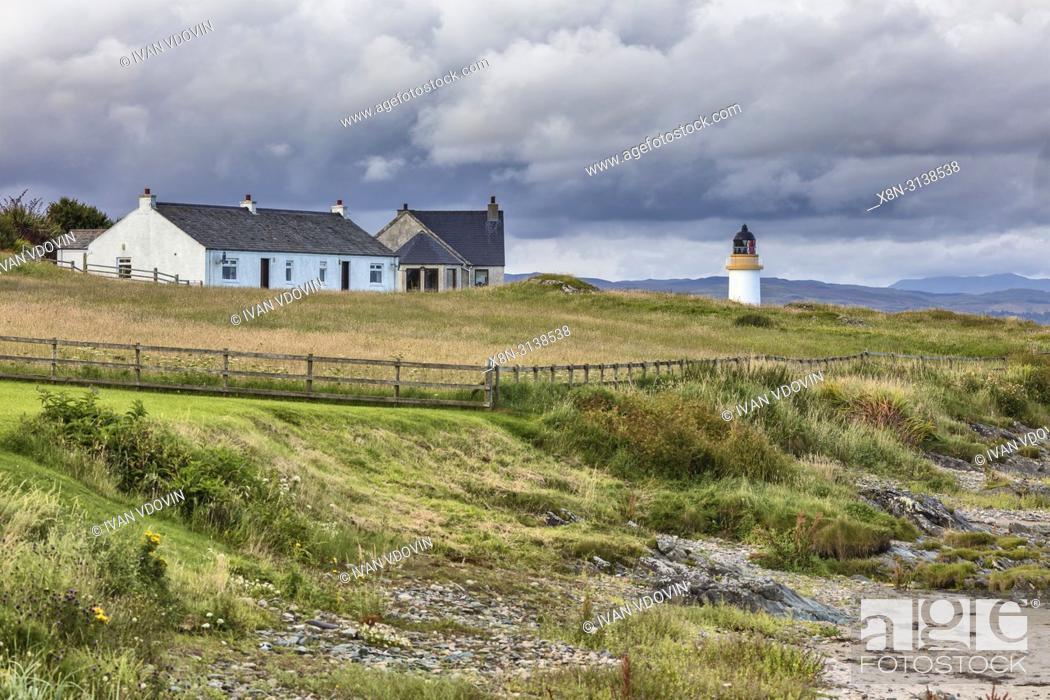 Stock Photo: Port Charlotte, Islay, Inner Hebrides, Argyll, Scotland, UK.