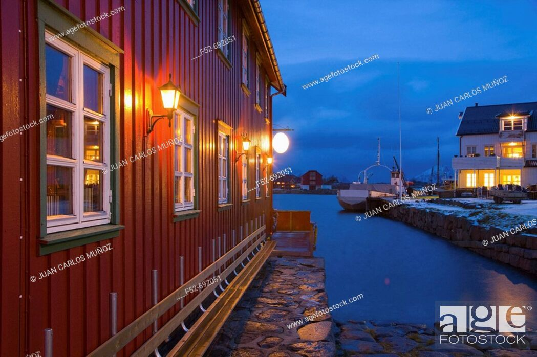 Stock Photo: Kabelvag, Austvagoy. Lofoten Islands, Norway.
