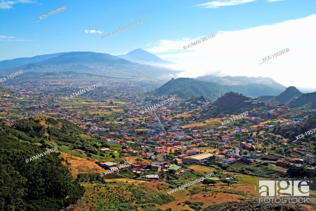 Stock Photo: View of San Cristóbal de La Laguna Tenerife island.
