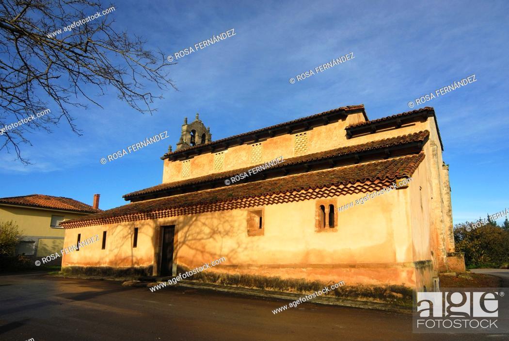 Photo de stock: San Salvador de Priesca, Pre-romanesque church, Asturias, Spain.