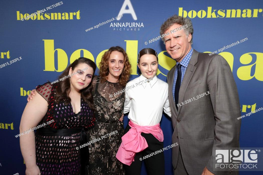 Stock Photo: Beanie Feldstein, Jessica Elbaum, Producer, Kaitlyn Dever, Will Ferrell at the Los Angeles Special Screening of Annapurna Pictures' BOOKSMART at The Theatre at.