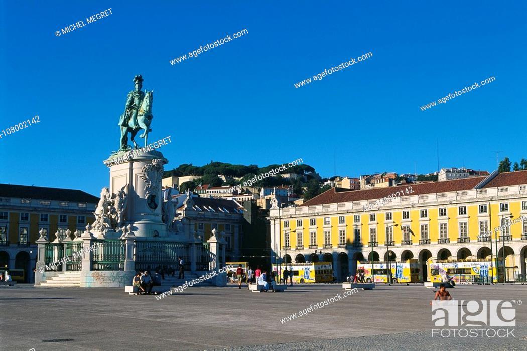Stock Photo: Portugal - Lisbon - Commerce Square.