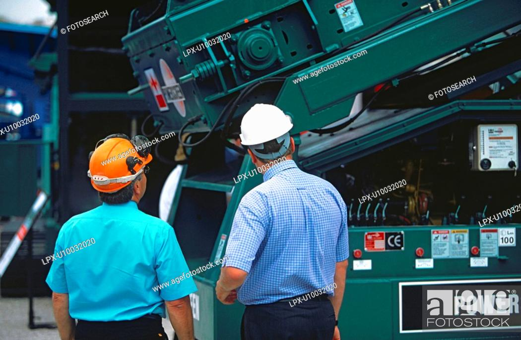 Stock Photo: Buying construction equipment.