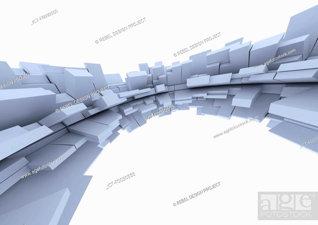 Stock Photo: Digital creation: geometry.