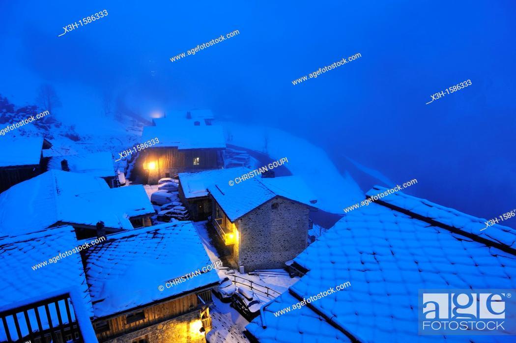 Stock Photo: Sainte-Foy-Tarentaise, Savoie department, Rhone-Alpes region, France, Europe.