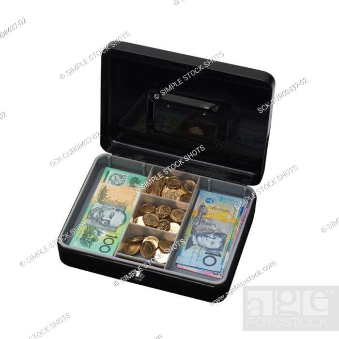Stock Photo: cash box.