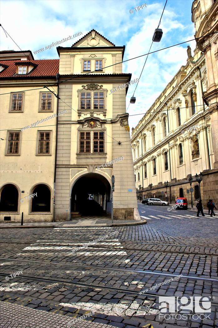 Stock Photo: Czech Republic, Prague, Mala Strana.