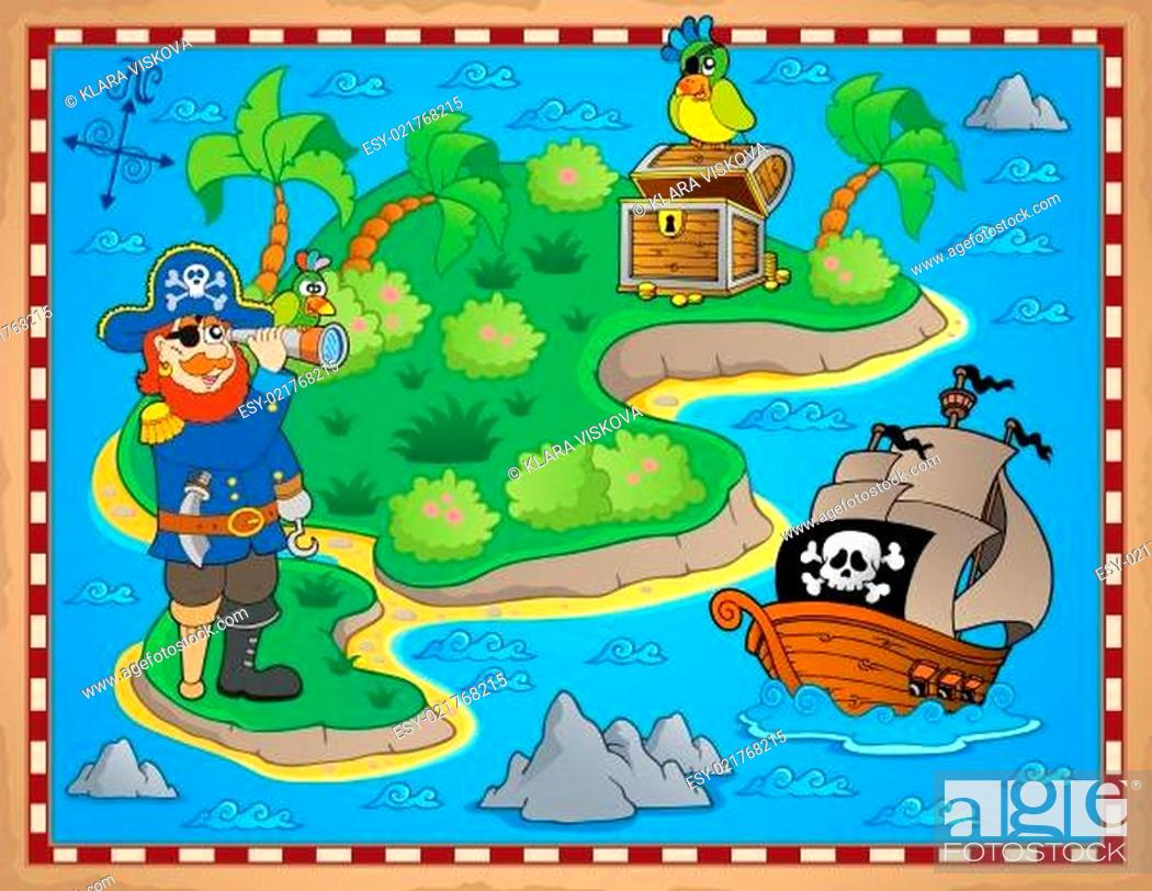 Stock Photo: Treasure map topic image 8.