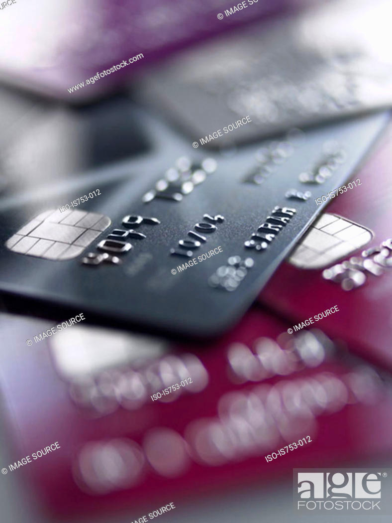 Stock Photo: Credit cards.