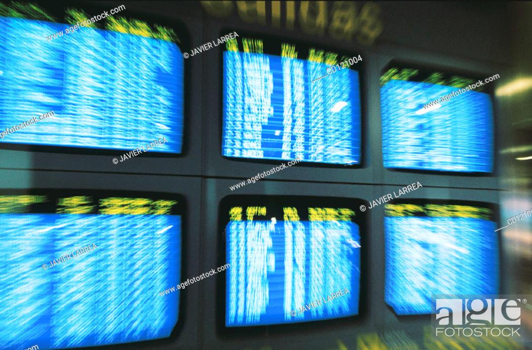 Stock Photo: Information screens.