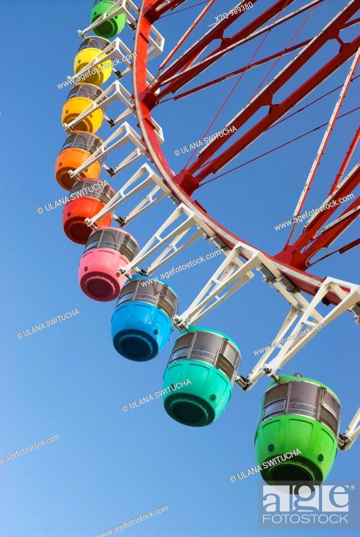 Stock Photo: Ferris Wheel Odaiba Tokyo Japan.