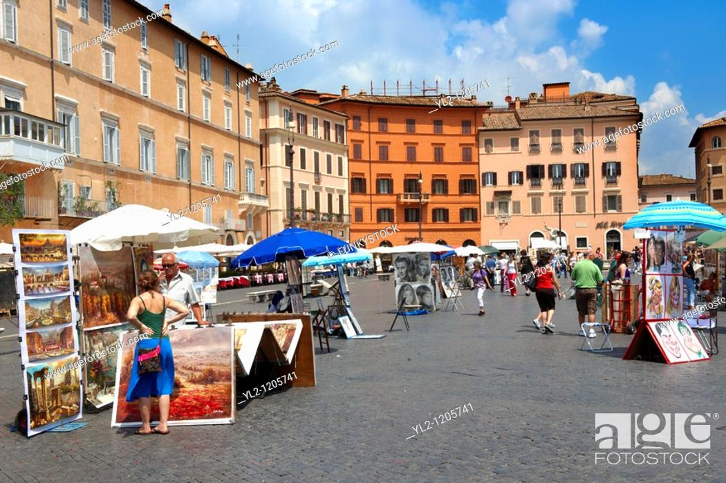 Stock Photo: Piazza Navona, Rome.