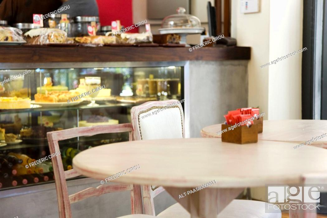 Stock Photo: Table in cafe.