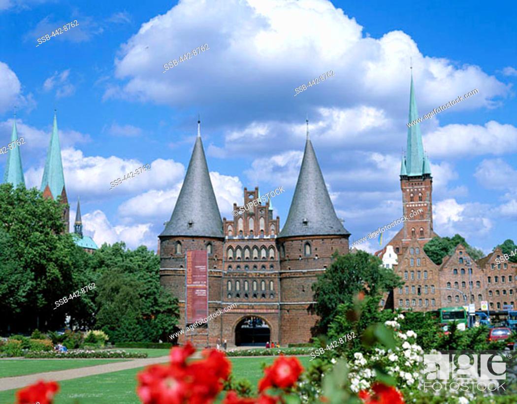 Stock Photo: Holstentor, Lubeck, Schleswig-Holstein, Germany.