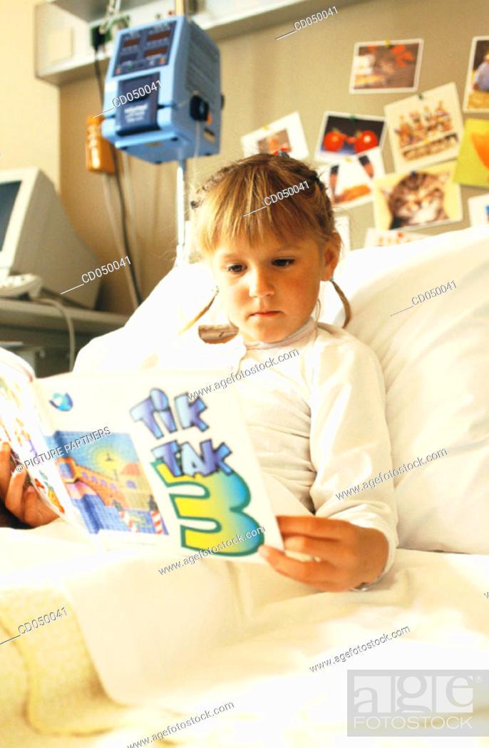 Stock Photo: Girl in hospital.
