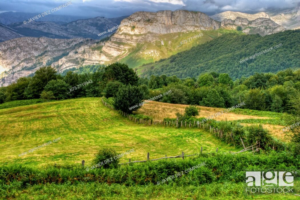 Stock Photo: San Juan de Beleño. Ponga Council. Asturias. Spain.