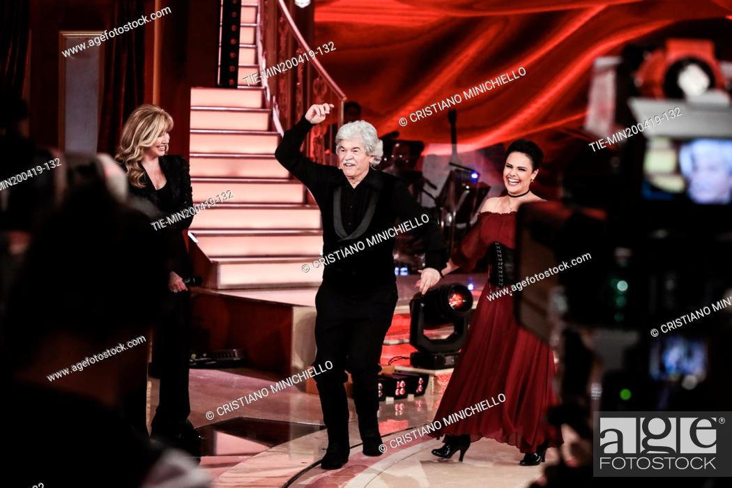 Imagen: Milly Carlucci, Antonio Razzi at the tv show Ballando con le stelle (Dancing with the stars) Rome, ITALY-20-04-2019.