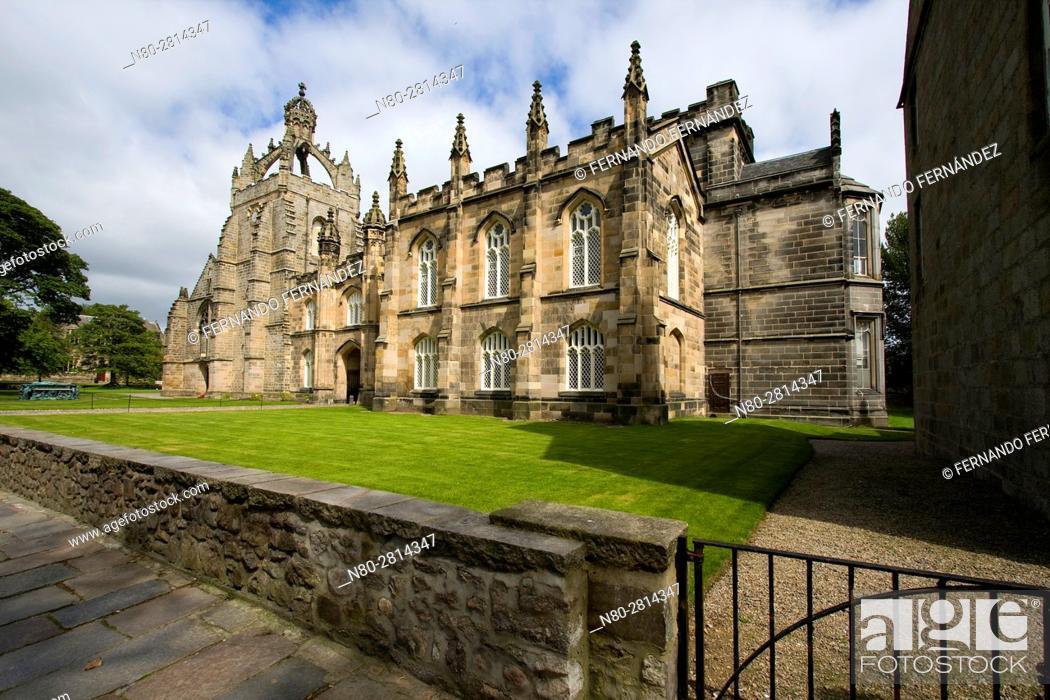 Stock Photo: King's College Chapel. High Street. Old Aberdeen. Aberdeen. Scotland. United Kingdom. Europe.