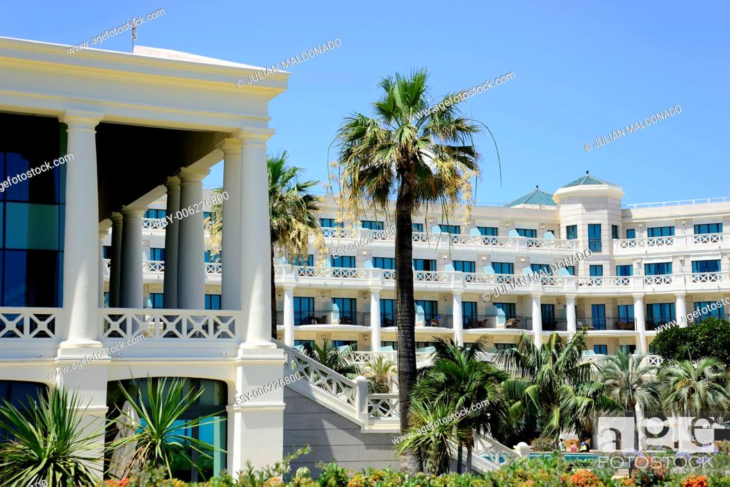 Stock Photo: Hotel located on the seafront of the city of Valencia, Spain.