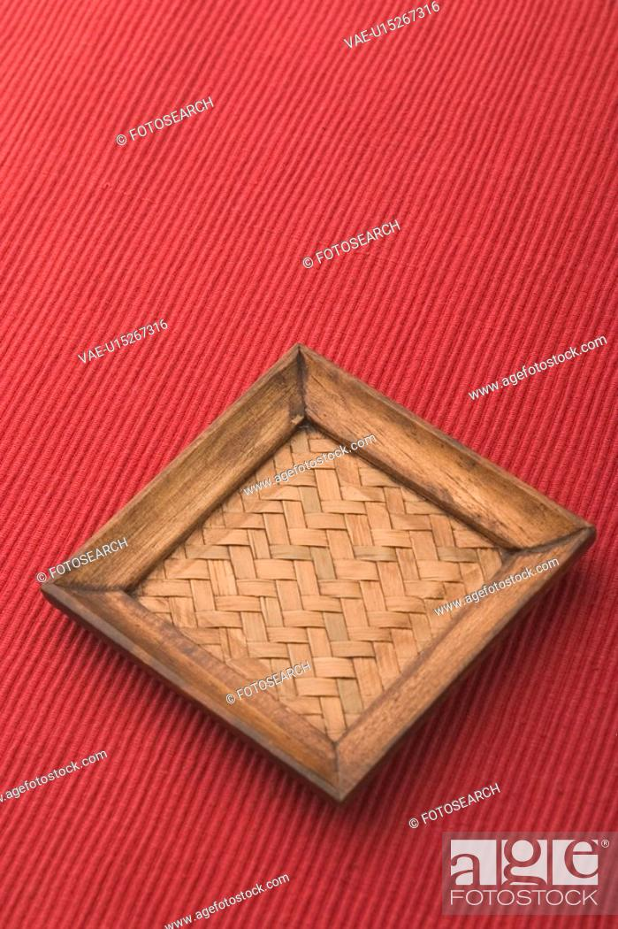 Stock Photo: Background, Cloth, Carpet, Cane, Appearance.