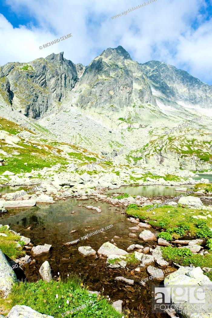 Stock Photo: Five Spis Tarns, High Tatras Vysoke Tatry, Slovakia.