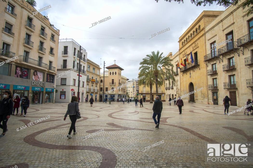 Stock Photo: Elche Alicante Spain the old city hall.