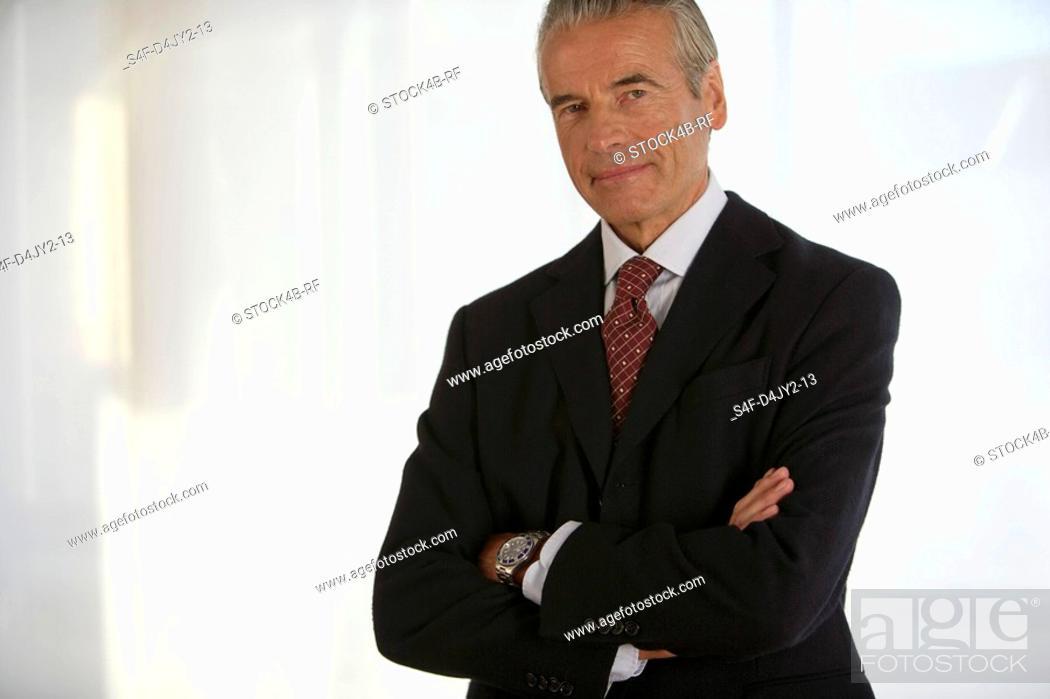 Stock Photo: Portrait of a senior businessman.
