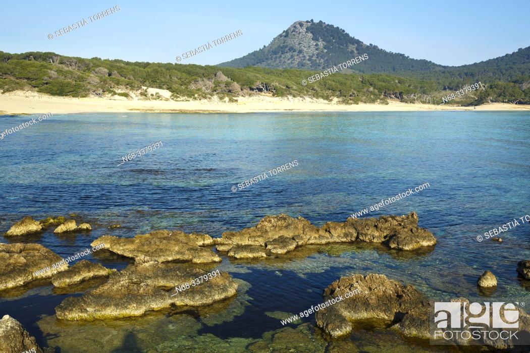Stock Photo: Rocks at Cala Agulla, Capdepera, Majorca, Spain.