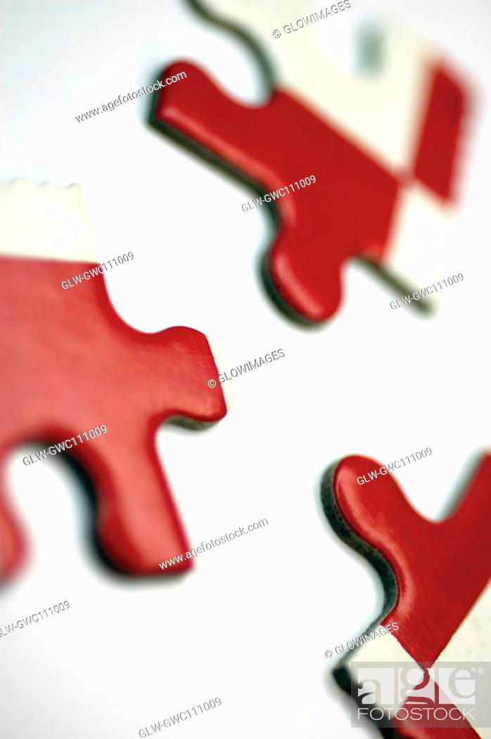 Stock Photo: Close-up of jigsaw pieces.