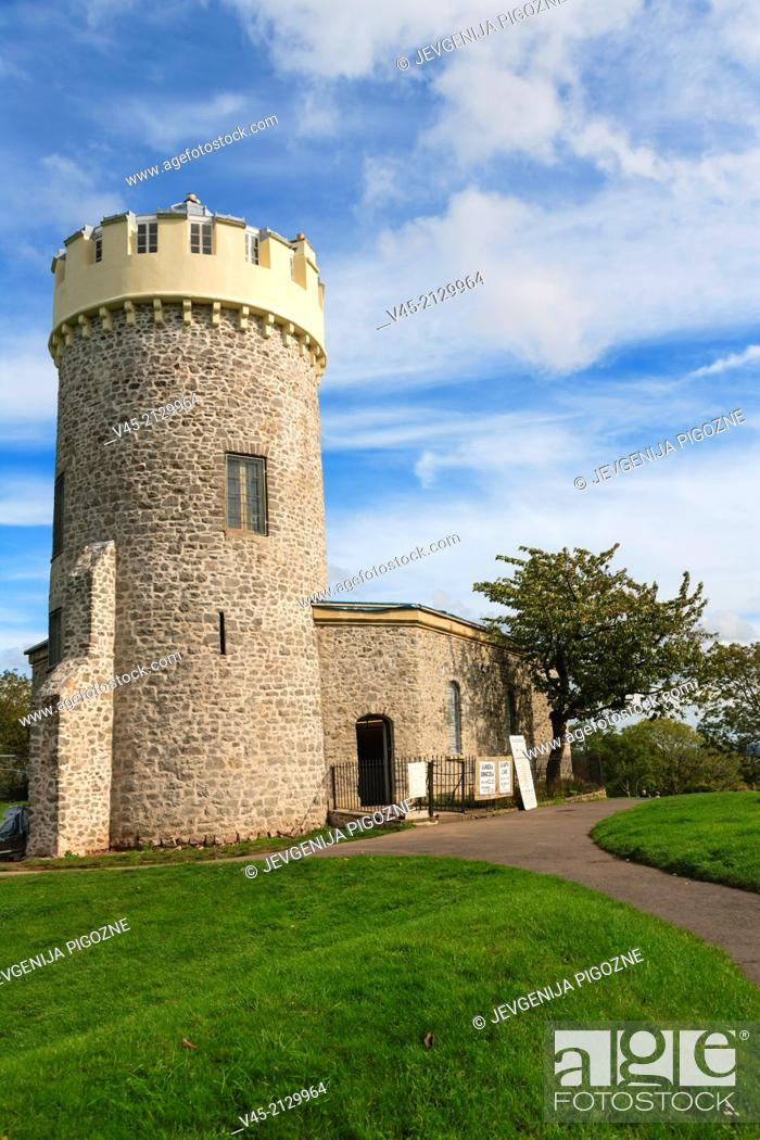 Stock Photo: Clifton Observatory, Camera Obscura and Cave, Bristol, Gloucestershire, England, UK.