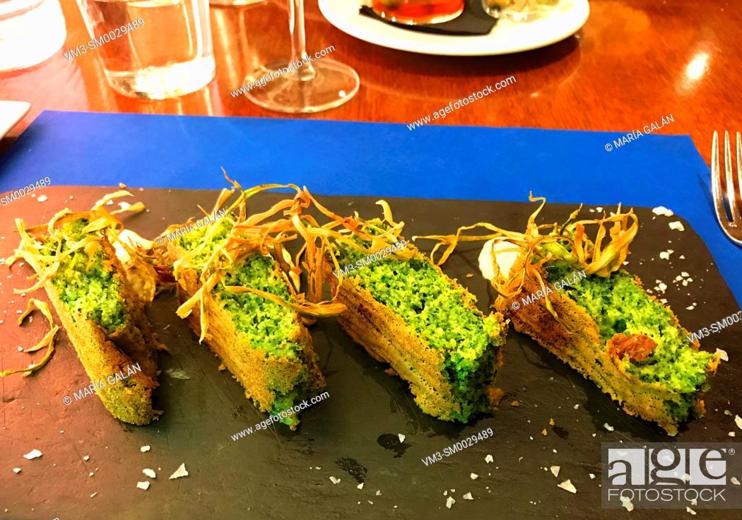 Stock Photo: Broccoli with leek.