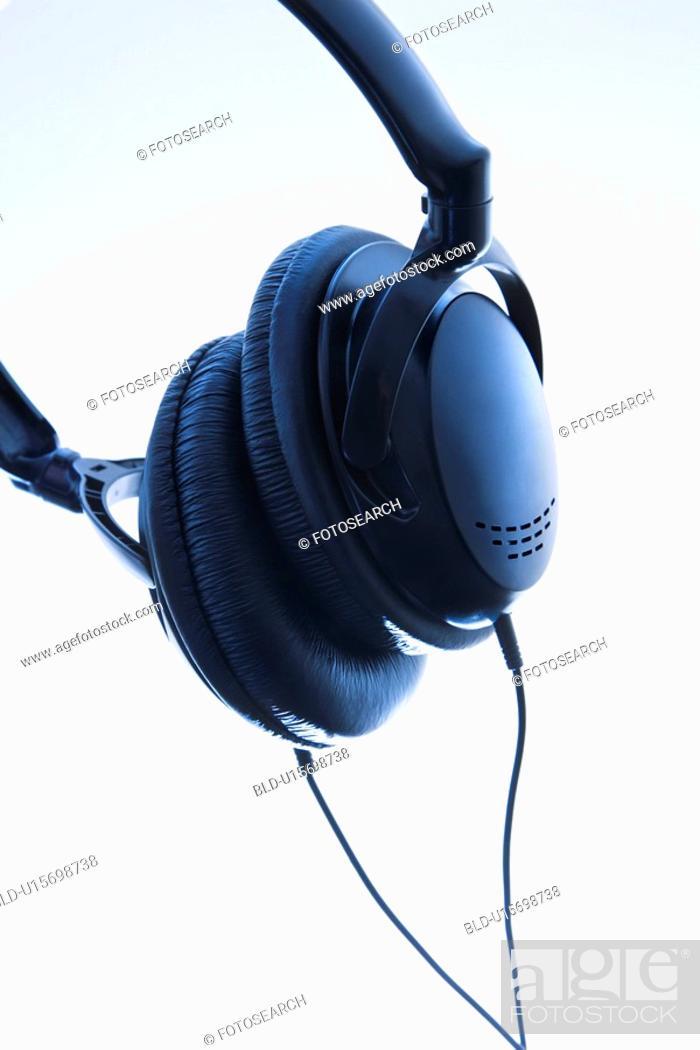 Stock Photo: Still life of audio head phones.