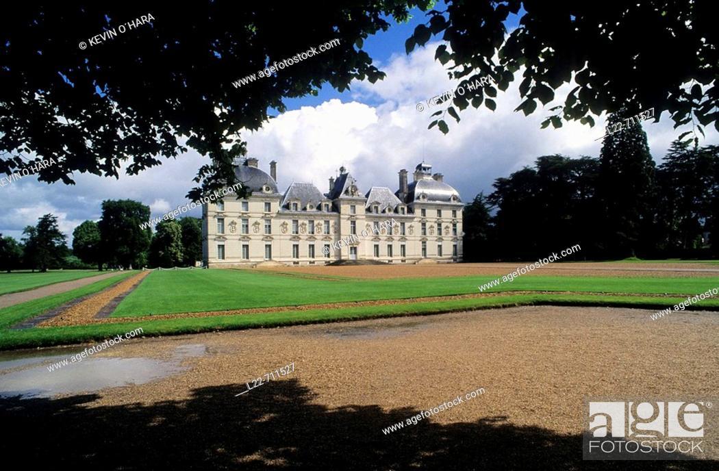 Stock Photo: Castle of Cheverny. Indre-et-Loire. Centre Region. France.