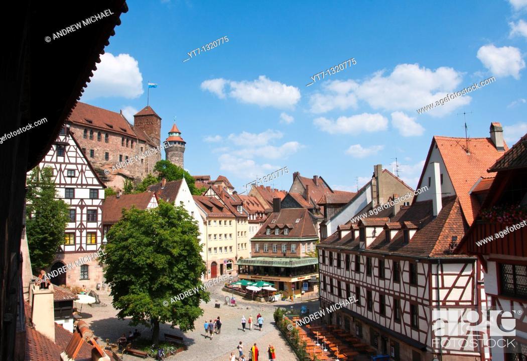 Stock Photo: Nuremberg historic center, Bavaria, Germany.