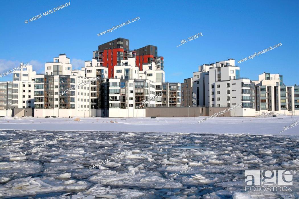 Stock Photo: Modern apartments in Vasteras.