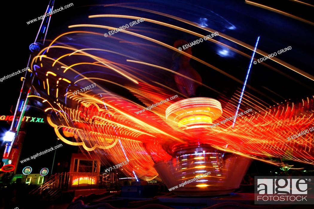 Stock Photo: Lights and abstractions in the night fair.