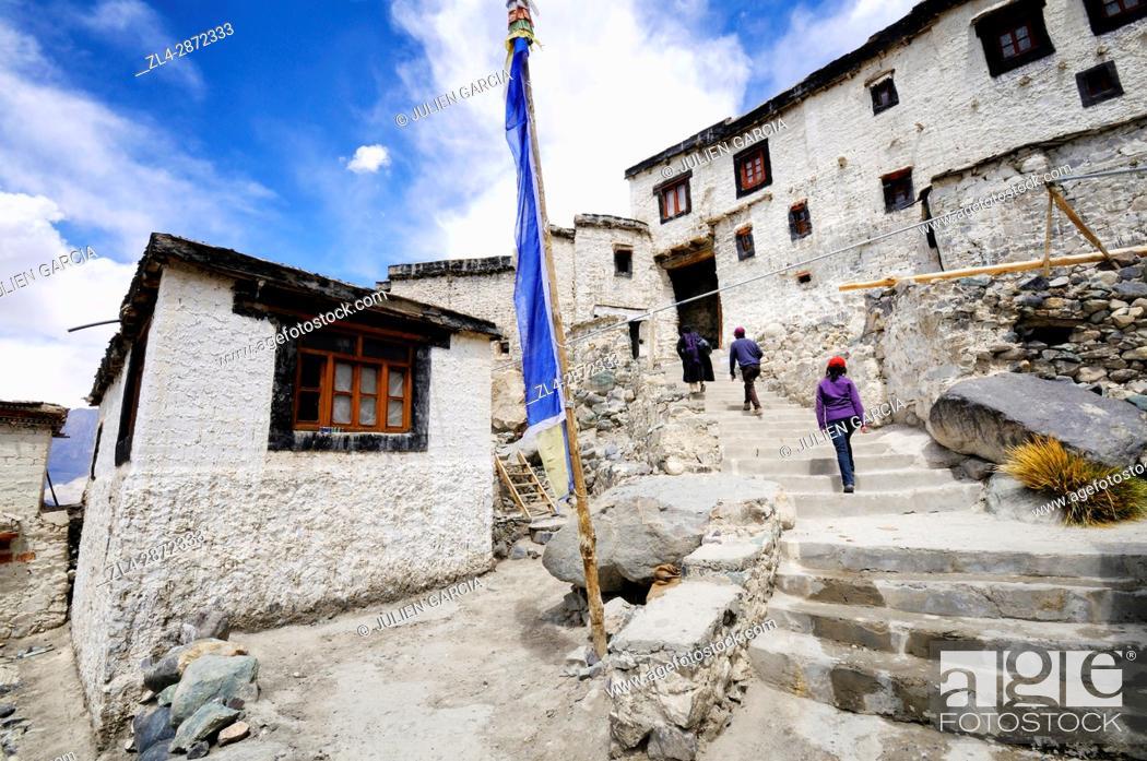 Stock Photo: India, Jammu and Kashmir, Ladakh, Nubra valley, Buddhist monastery of Diskit.