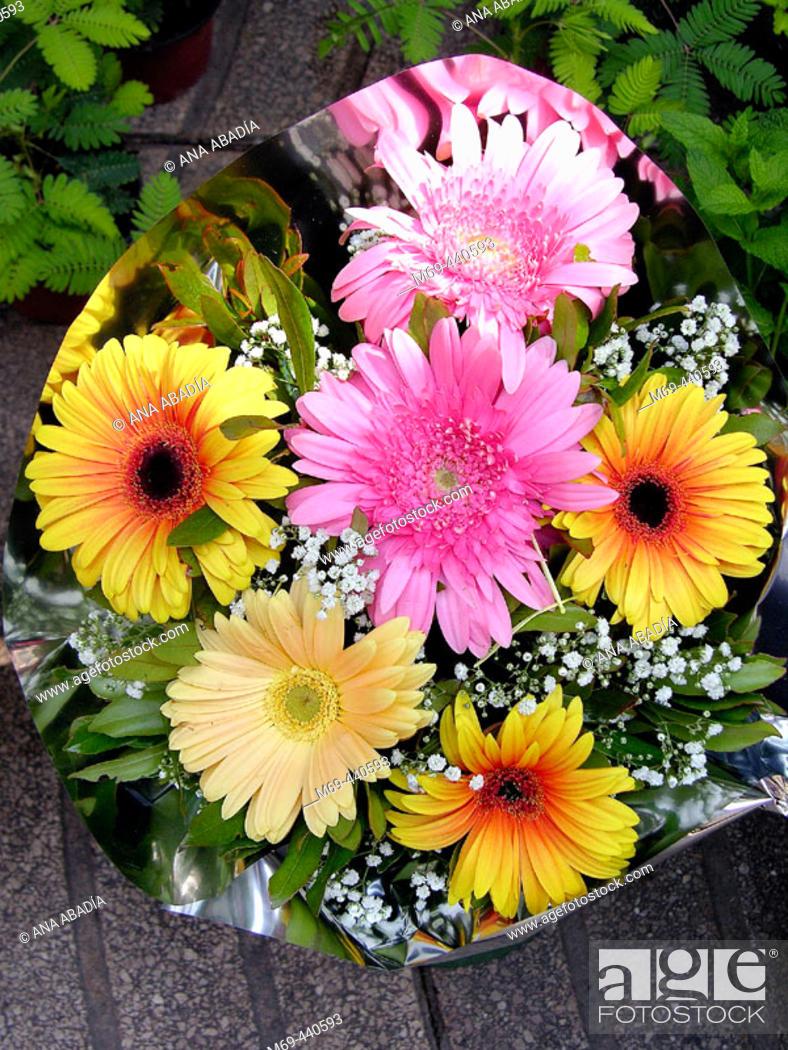 Stock Photo: Flowers for sale at Las Ramblas. Barcelona. Spain.
