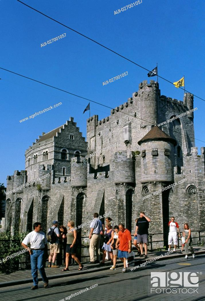 Stock Photo: Belgium - Ghent - Castle of the Counts of Flanders.