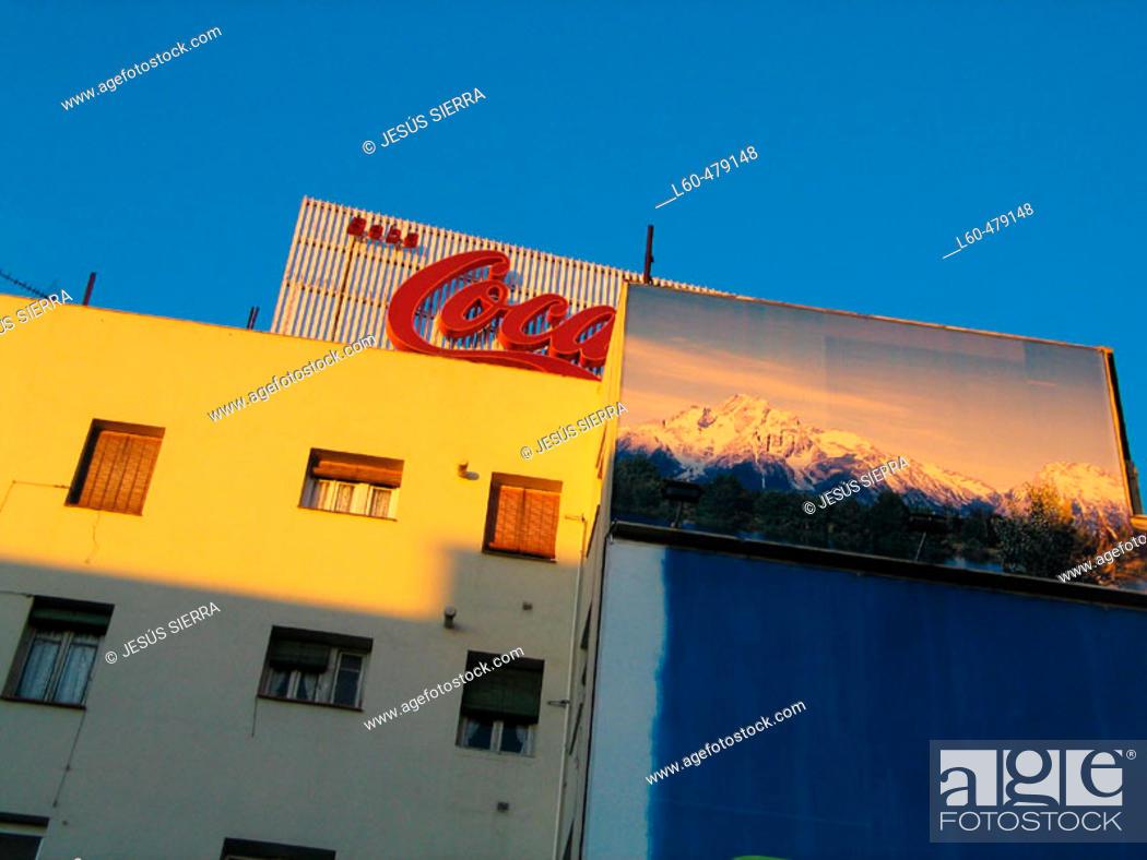 Stock Photo: Building detail. Madrid. Spain.