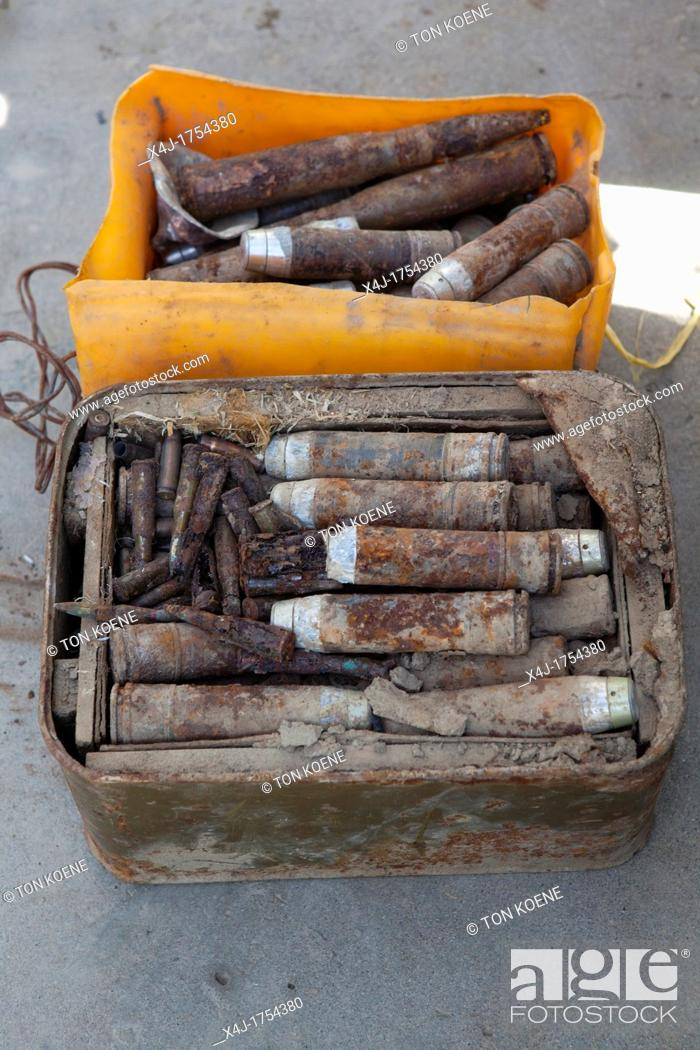 Stock Photo: police captured ammunition from islamic fundamentalists meant for a suicide attack.
