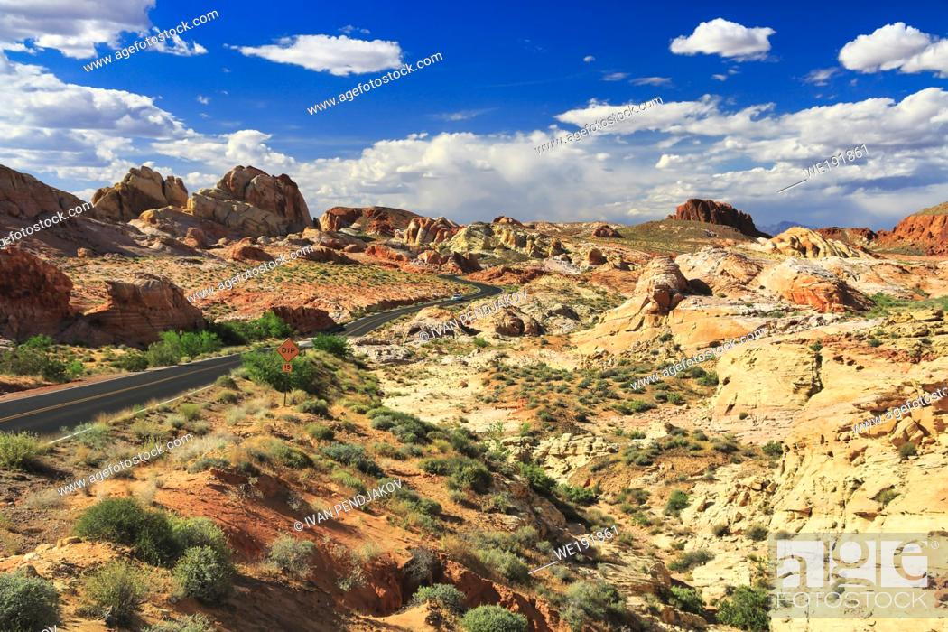 Stock Photo: Valley of Fire State Park, Nevada, USA.