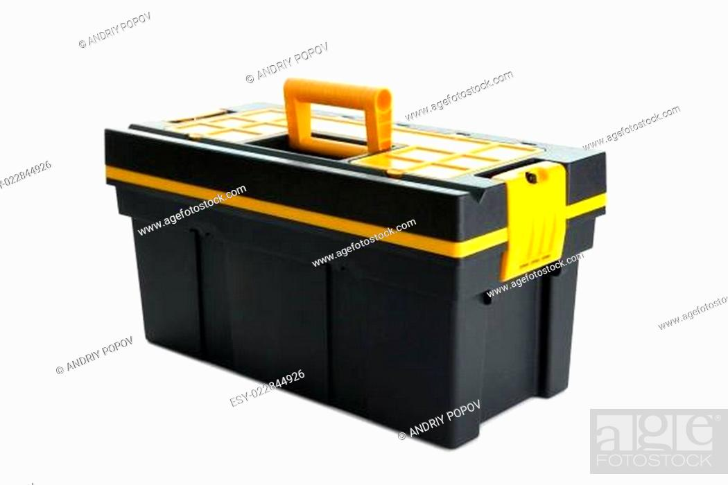 Stock Photo: Professional tool box on white background.