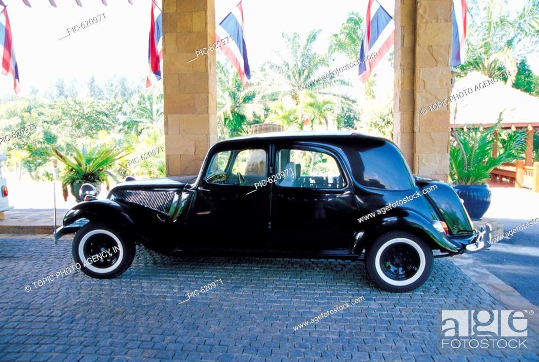Stock Photo: A Classic Car, Thailand.