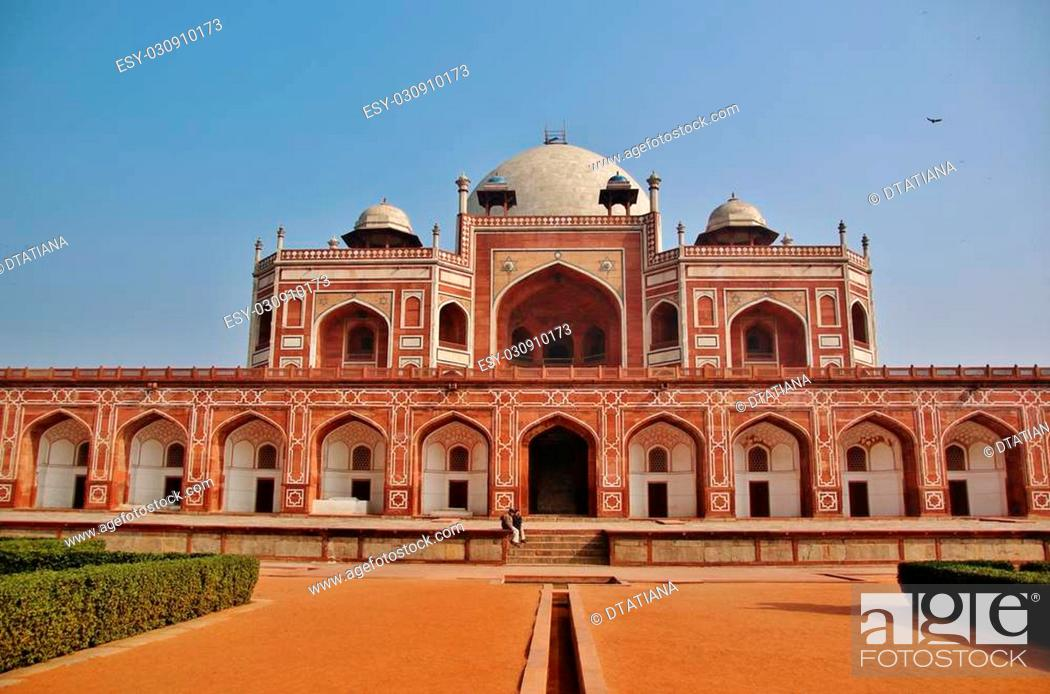 Stock Photo: Humayun's Tomb is a complex of buildings in Delhi, India.