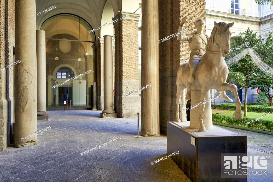 Stock Photo: Naples Campania Italy. TheNational Archaeological MuseumofNaples(Museo Archeologico Nazionale di Napoli) is an important Italian archaeological museum.