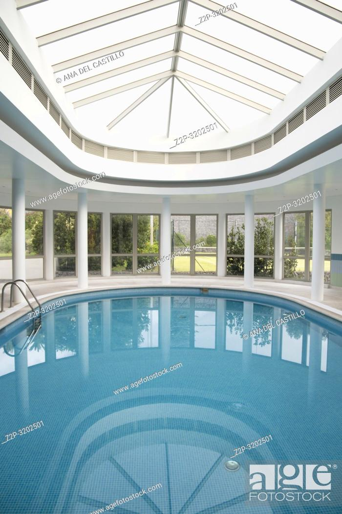 Stock Photo: Interior swimming pool Terceira Azores Portugal.