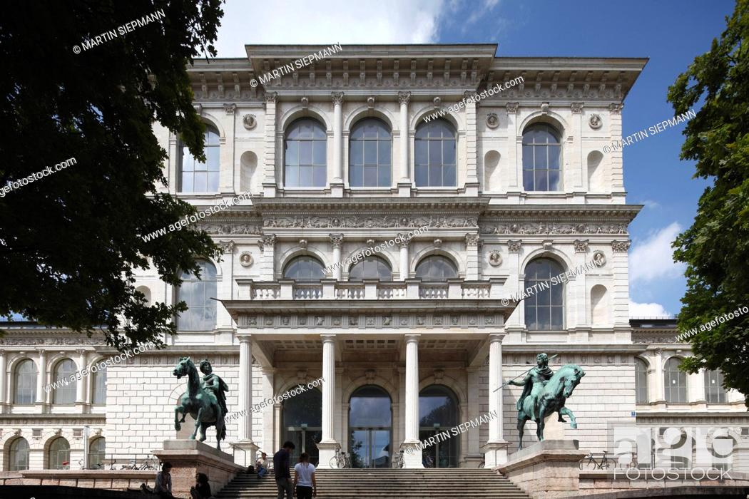 Stock Photo: Germany, Bavaria, Munich, View of gate of academy of arts.