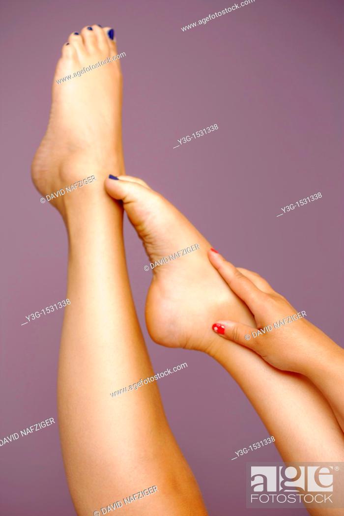 Stock Photo: Bare feet.